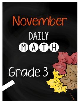 {Grade 3} November Daily Math Packet