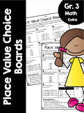 {Grade 3} Place Value Choice Boards