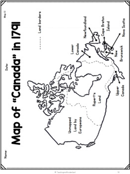 Map Of Canada For Grade 3.Grade 3 Unit 1 Communities In Canada 1780 1850 By