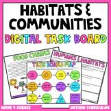 (Grade 4) Digital Learning Task Board: Habitats and Communities