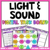 (Grade 4) Digital Learning Task Board: Light and Sound
