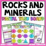 (Grade 4) Digital Task Board: Rocks and Minerals (Distance
