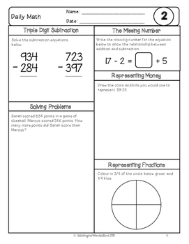 {Grade 4} February Daily Math Packet