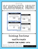 {Grade 4} Fraction Scavenger Hunt Set: Relating Fractions and Decimals