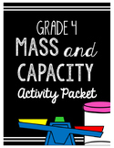 {Grade 4} Mass and Capacity Activity Packet