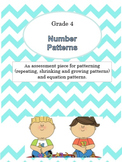 {Grade 4} Math Test Number Patterns