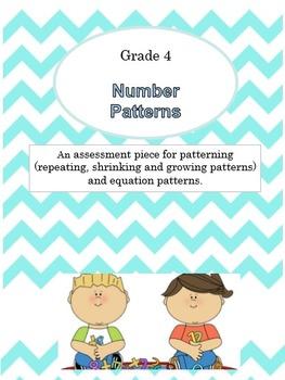 {Grade 4} Math Test Number Patterns