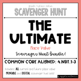 {Grade 4} Place Value Scavenger Hunt BUNDLE (Includes 3 Sets!)