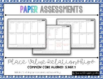 {Grade 5} 5.NBT.1 Place Value Assessments