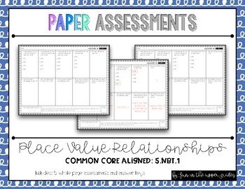 {Grade 5} 5.NBT.1 Place Value Assessments