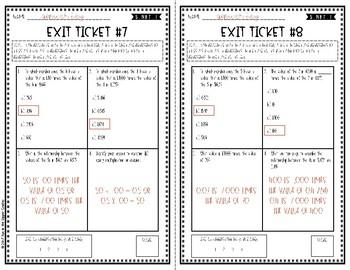 {Grade 5} 5.NBT.1 Place Value Exit Tickets