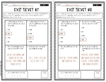 {Grade 5} 5.NBT.1 Place Value Exit Tickets