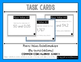 {Grade 5} Place Value Relationships Task Cards - Color and B&W!