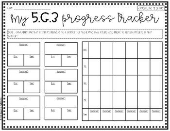 {Grade 5} Geometry Progress Tracking Sheets