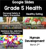 {Grade 5} Health Interactive Response Google Slide Version Bundle