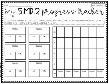{Grade 5} MD Progress Tracking Sheets