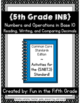 {Grade 5} NBT.3 Interactive Math Notebook