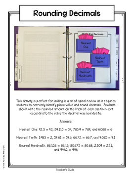 {Grade 5} NBT.4 Interactive Math Notebook