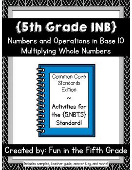 {Grade 5} NBT.5 Interactive Math Notebook
