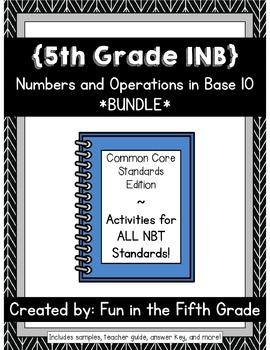 {Grade 5} NBT Interactive Math Notebooks -- COMPLETE BUNDLE!