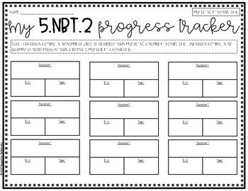 {Grade 5} NBT Progress Tracking Sheets