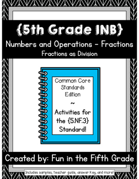 {Grade 5} NF.3 Interactive Math Notebook