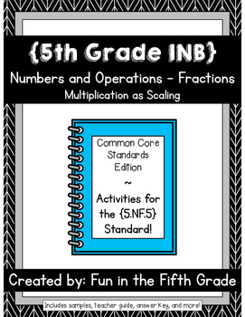 {Grade 5} NF.5 Interactive Math Notebook