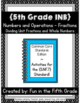 {Grade 5} NF.7 Interactive Math Notebook