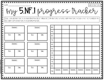 {Grade 5} NF Progress Tracking Sheets