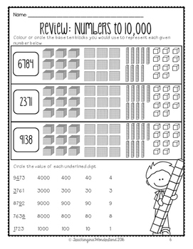 {Grade 5} Numbers to 100,000 Activity Packet