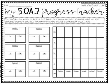 {Grade 5} OA Progress Tracking Sheets