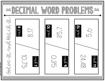 {Grade 5} Solve It and Match It: Decimal Word Problems