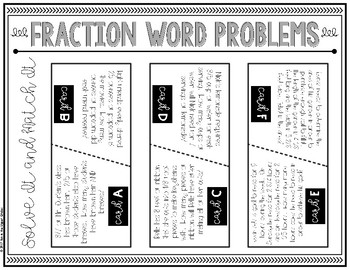 {Grade 5} Solve It and Match It: Fraction Word Problems
