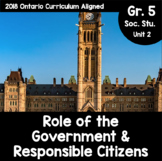 {Grade 5} The Role of Government and Responsible Citizenship Activity Packet