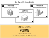 {Grade 5} Volume Task Cards - Color and B&W!