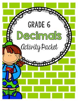 {Grade 6} Decimal Activity Packet
