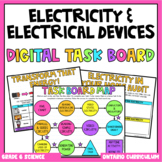 (Grade 6) Digital Learning Task Board: Electricity & Elect