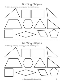 {Grade 6} Geometry Activity Packet