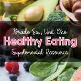 {Grade 6} Unit 1: Healthy Eating with Canada's Food Guide Activity Packet