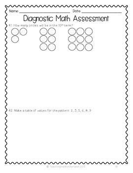 {Grade 6} Ontario-Based Diagnostic Math Assessment Test
