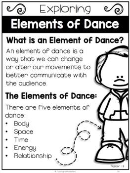 {Grade 6, Unit 1} Dance Activity Packet