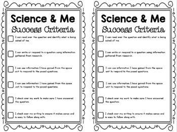 {Grade 6, Unit 4} Science and Me: Space Centres