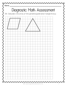 {Grade 7} Ontario-Based Diagnostic Math Assessment