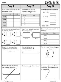 {Grade 7} Ontario Spiral Math Review