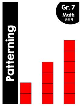 {Grade 7} Unit 4: Patterning Activity Packet