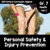{Grade 7} Unit 3: Personal Safety & Injury Prevention