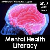 (Grade 7) Unit 5: Mental Health Literacy Activity Packet