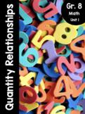 {Grade 8} Unit 1: Quantity Relationships