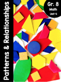 {Grade 8} Unit 4: Patterns and Relationships
