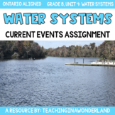 {Grade 8} Unit 4: Water Systems Current Event Assignment